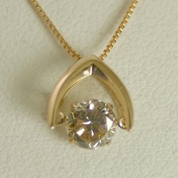 ダンシングストーン ダイヤモンド ネックレス 一粒 0.5ct K18